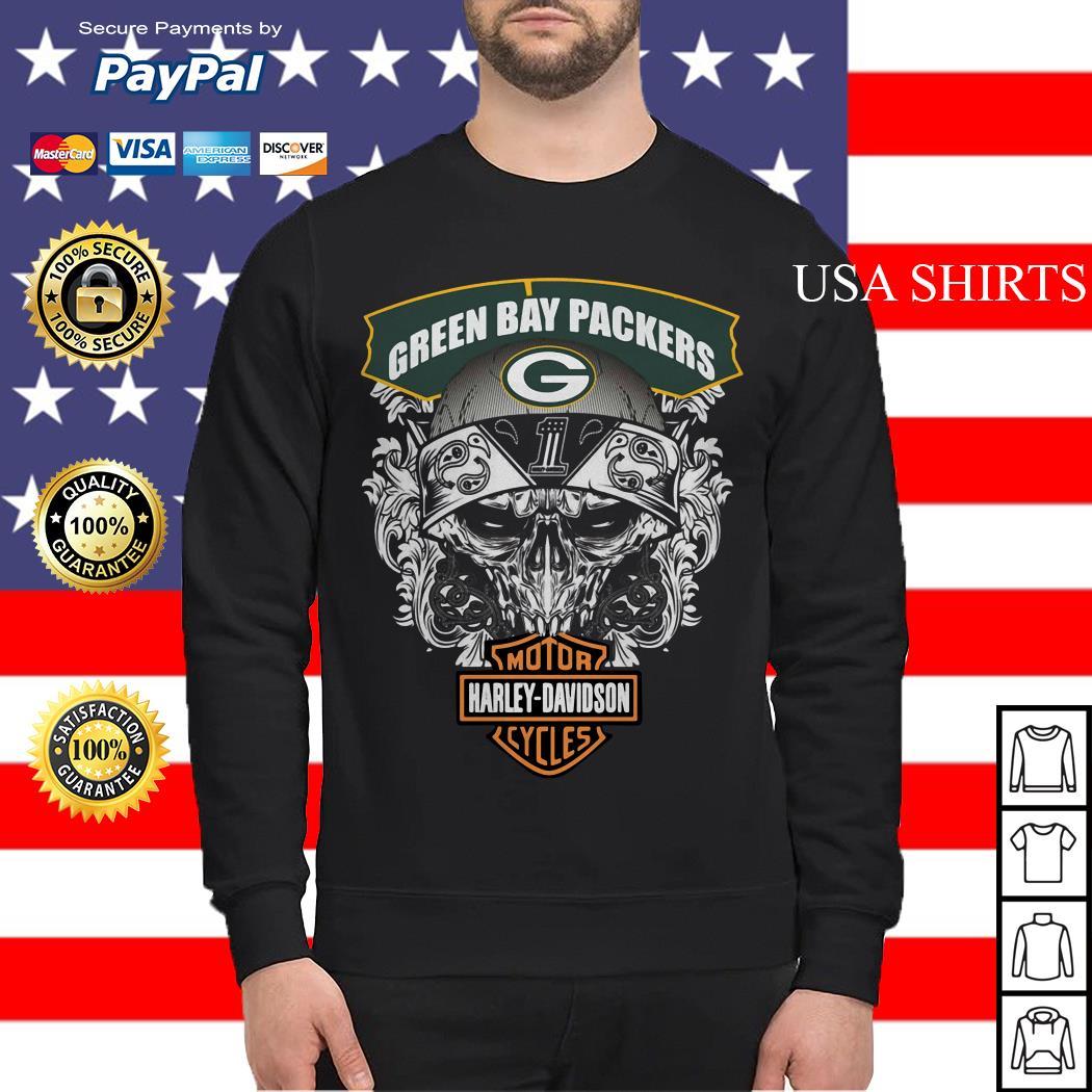 Green Bay Packers motor Harley Davidson cycles Sweater