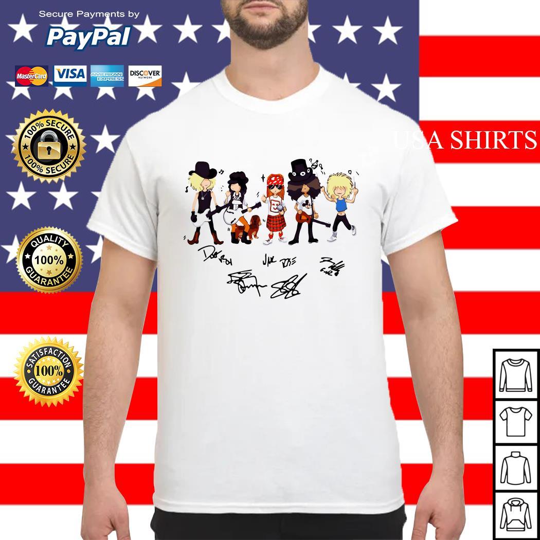 Guns N' Roses cartoon signature shirt