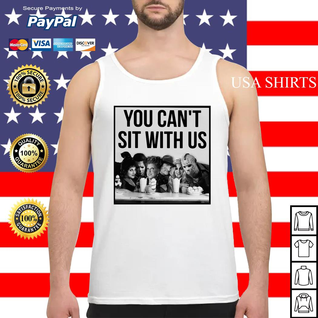 Horror Movie and Hocus Pocus you can't sit with us Halloween Tank top