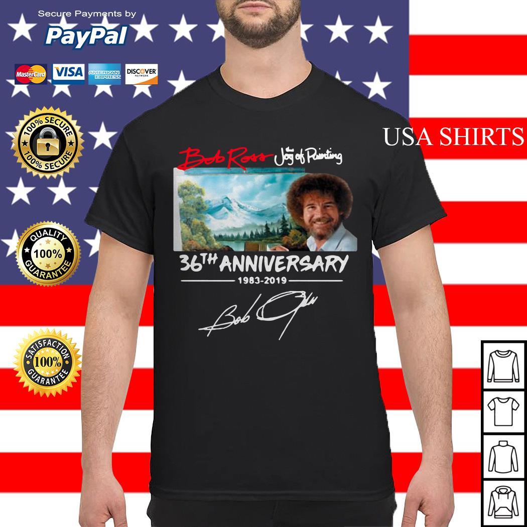 Hot Bob Ross The Joy of Painting 36th Anniversary signature shirt