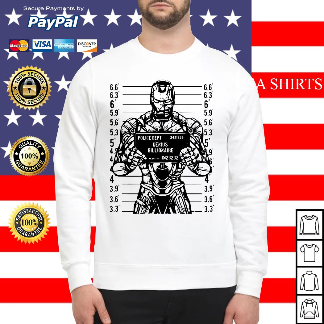 Iron man police dept genius billionaire Sweater