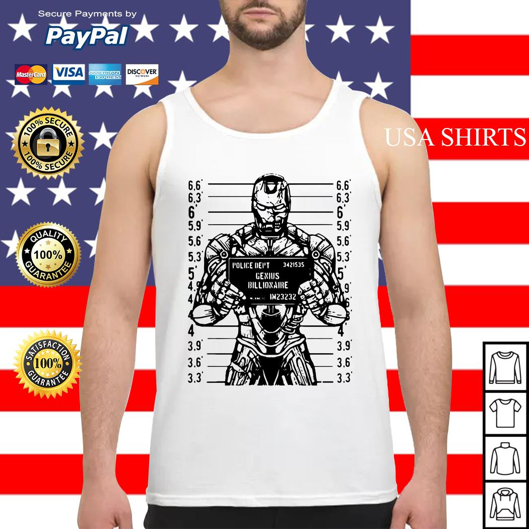 Iron man police dept genius billionaire Tank top