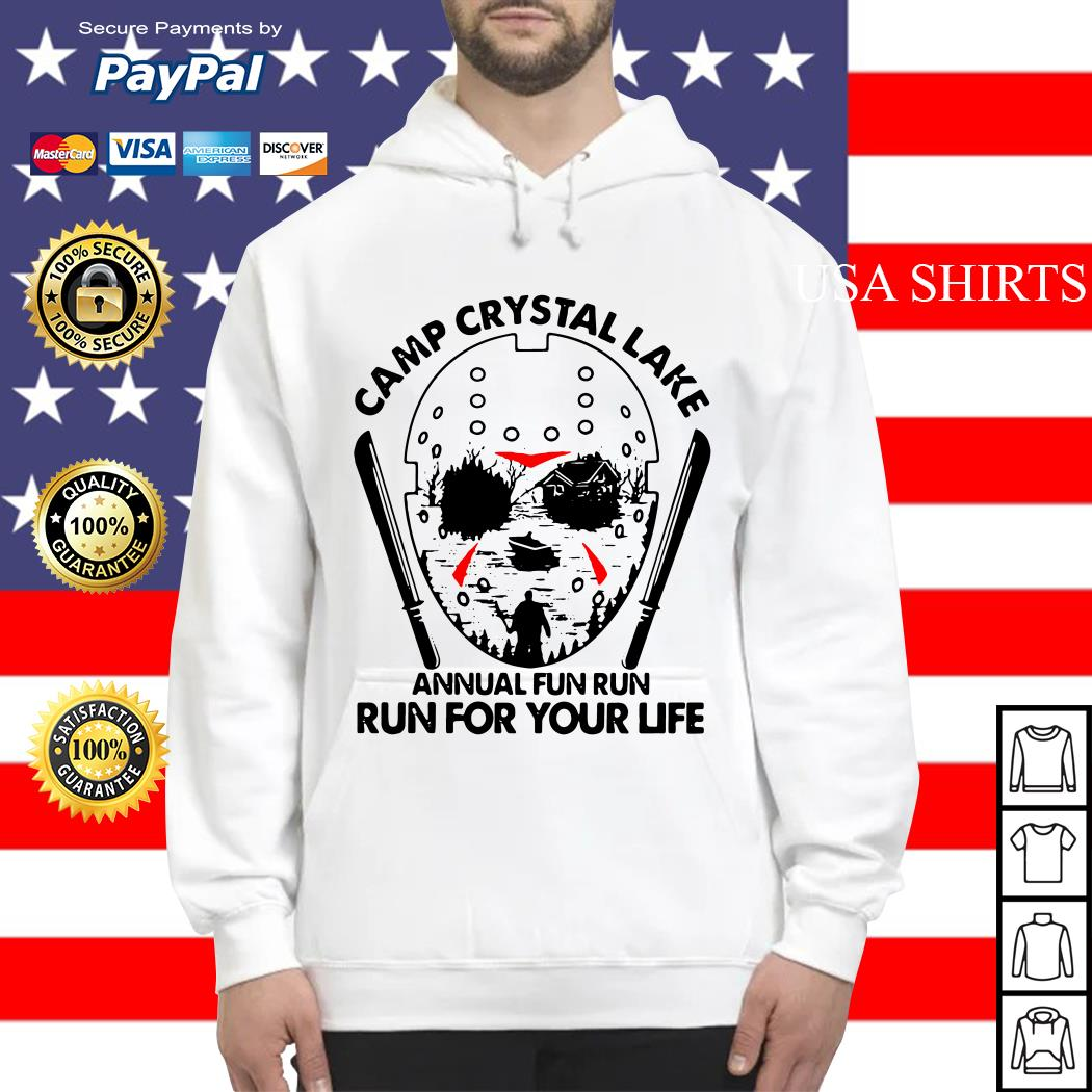 Jason Voorhees Camp crystal lake annual fun run run for your life Hoodie