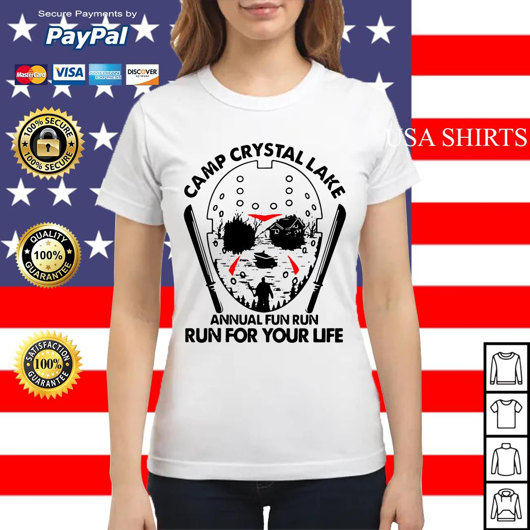 Jason Voorhees Camp crystal lake annual fun run run for your life Ladies tee