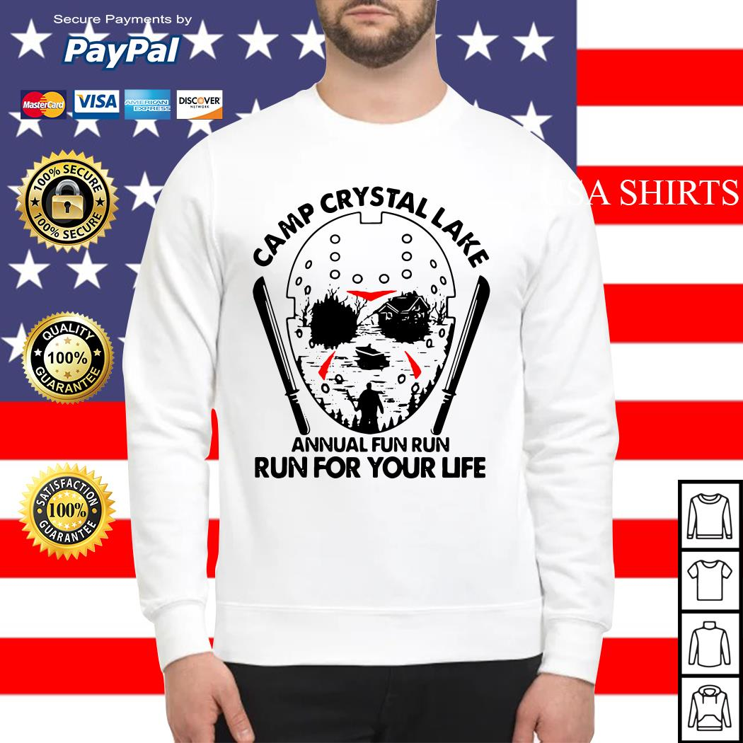 Jason Voorhees Camp crystal lake annual fun run run for your life Sweater