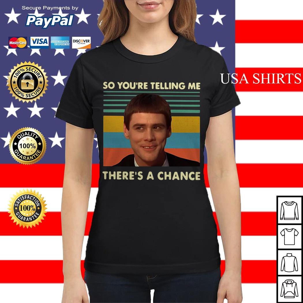 Jim Carrey so you're telling me there's a chance vintage Ladies tee