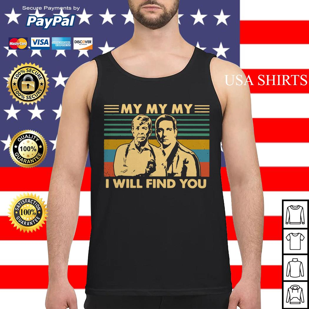 Joe Kenda and Carl Marino my my my I will find you vintage Tank top
