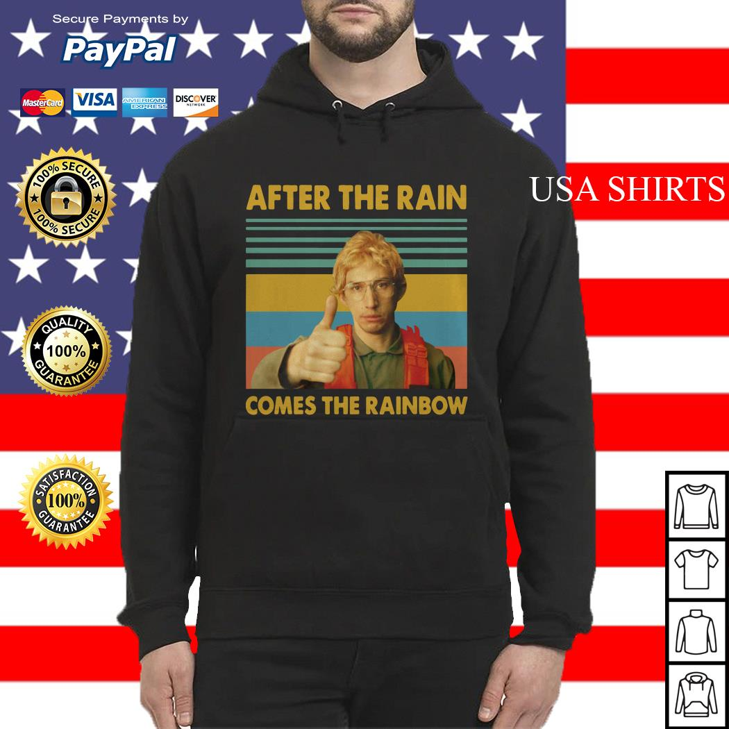 Kylo Ren Goes After the rain comes the rainbow vintage Hoodie