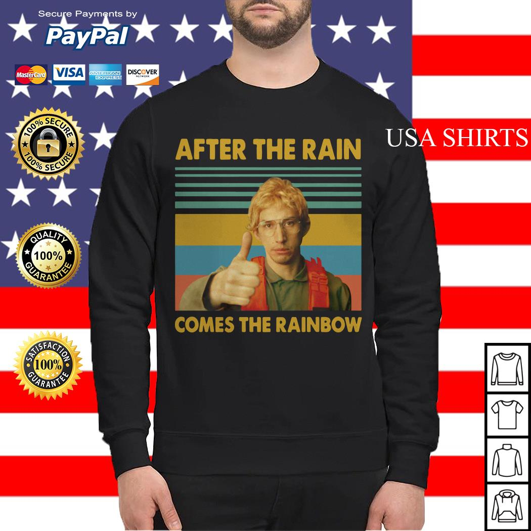 Kylo Ren Goes After the rain comes the rainbow vintage Sweater