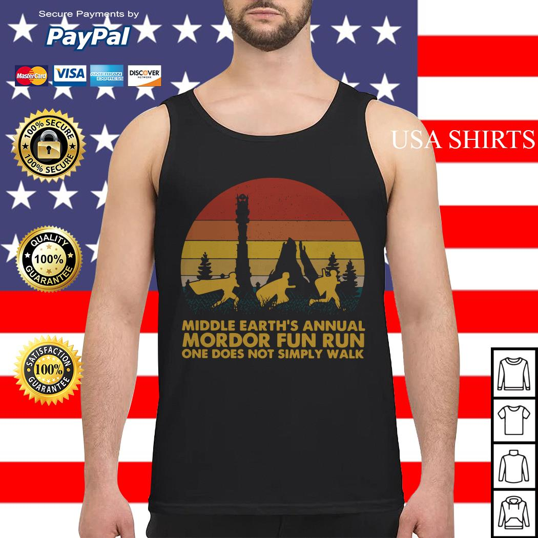 Middle earth's annual Mordor fun run one does not simply walk sunset Tank top