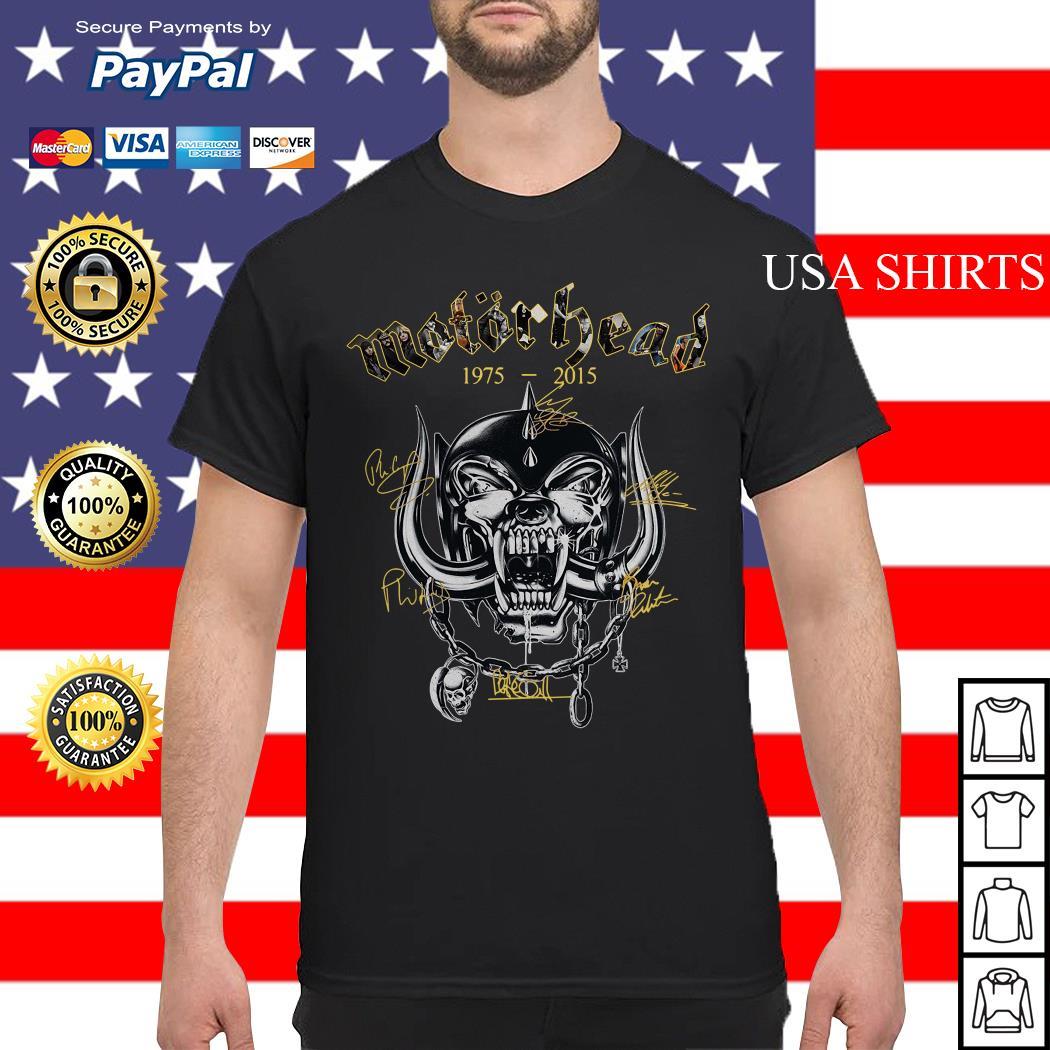 Motorhead 1975 2015 Signatures shirt