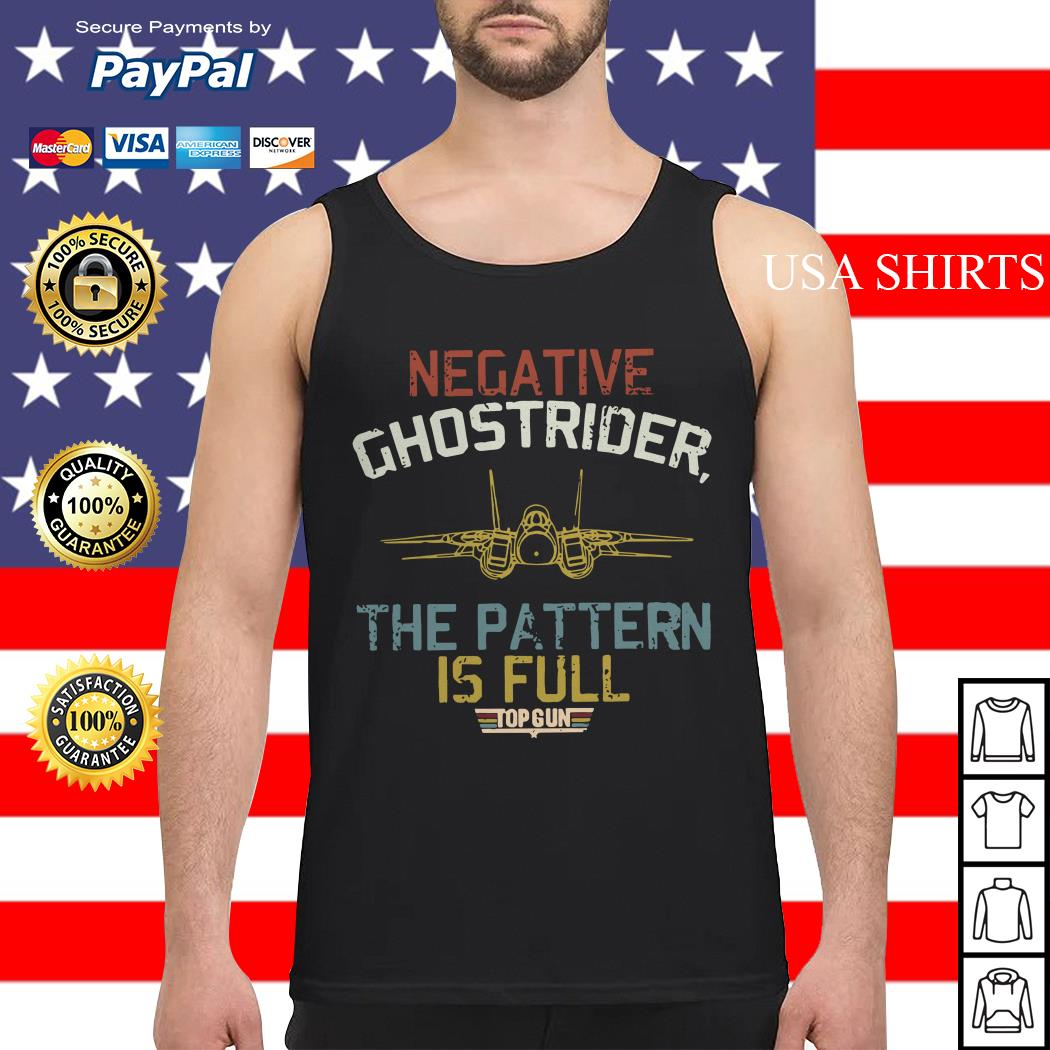 Negative ghostrider the pattern is full top gun Tank top