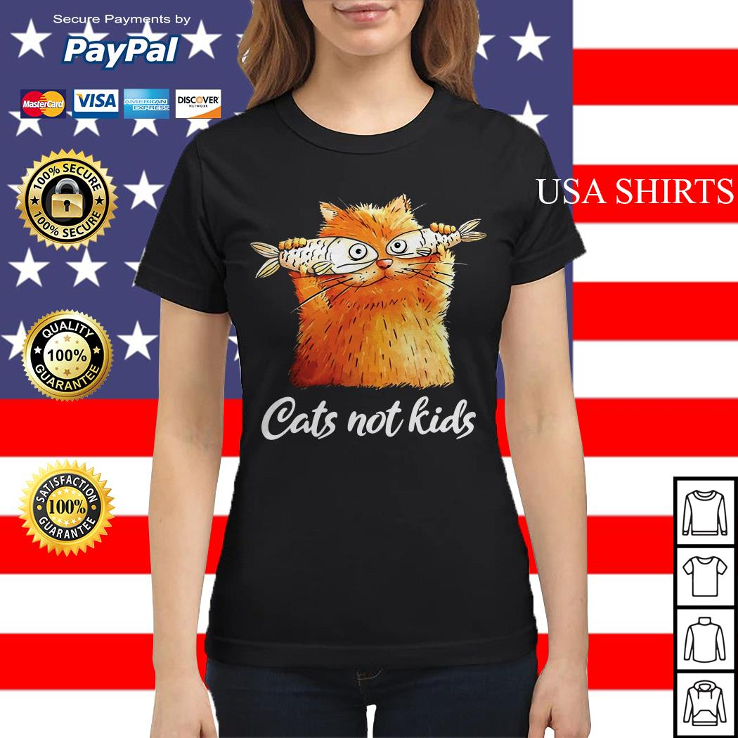 Official Cats not kids Ladies tee