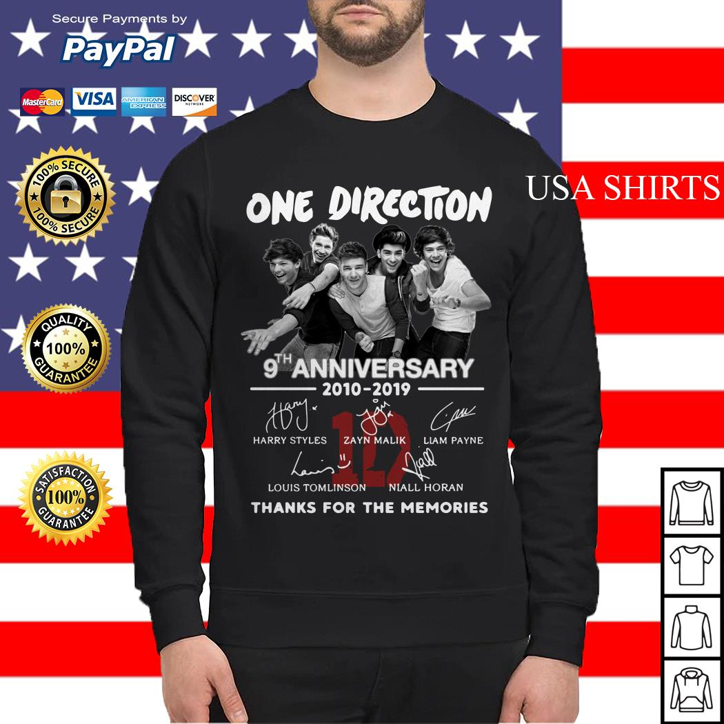 One Direction 9th anniversary 2010 2019 thank you for the memories Sweater