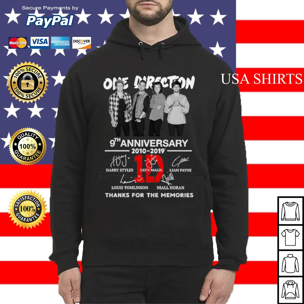 One Direction 9th anniversary 2010-2019 thanks for the memories Hoodie
