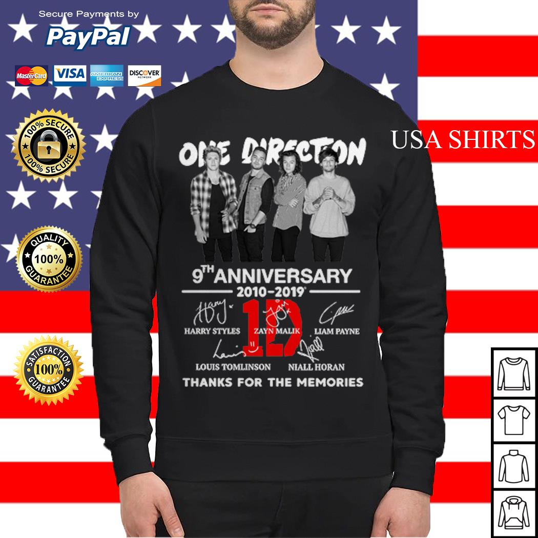 One Direction 9th anniversary 2010-2019 thanks for the memories Sweater