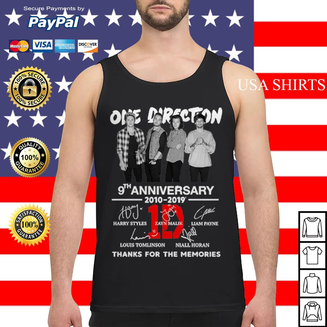 One Direction 9th anniversary 2010-2019 thanks for the memories Tank top