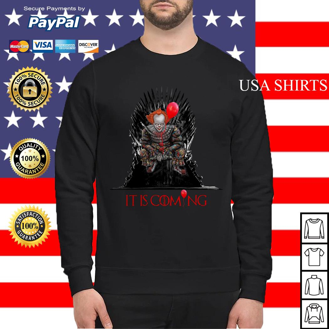 Pennywise It is coming Game of Thrones Halloween Sweater