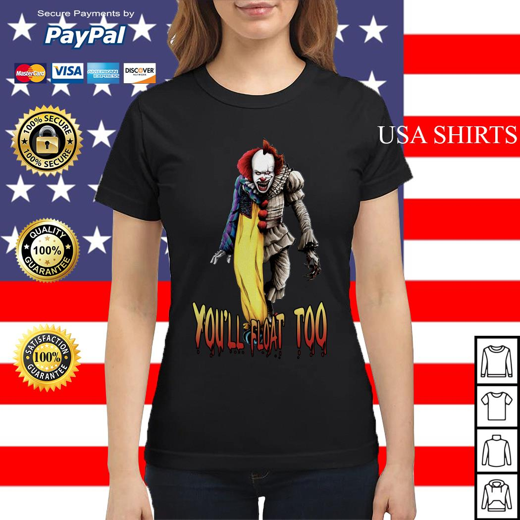 Pennywise you'll float too Ladies tee