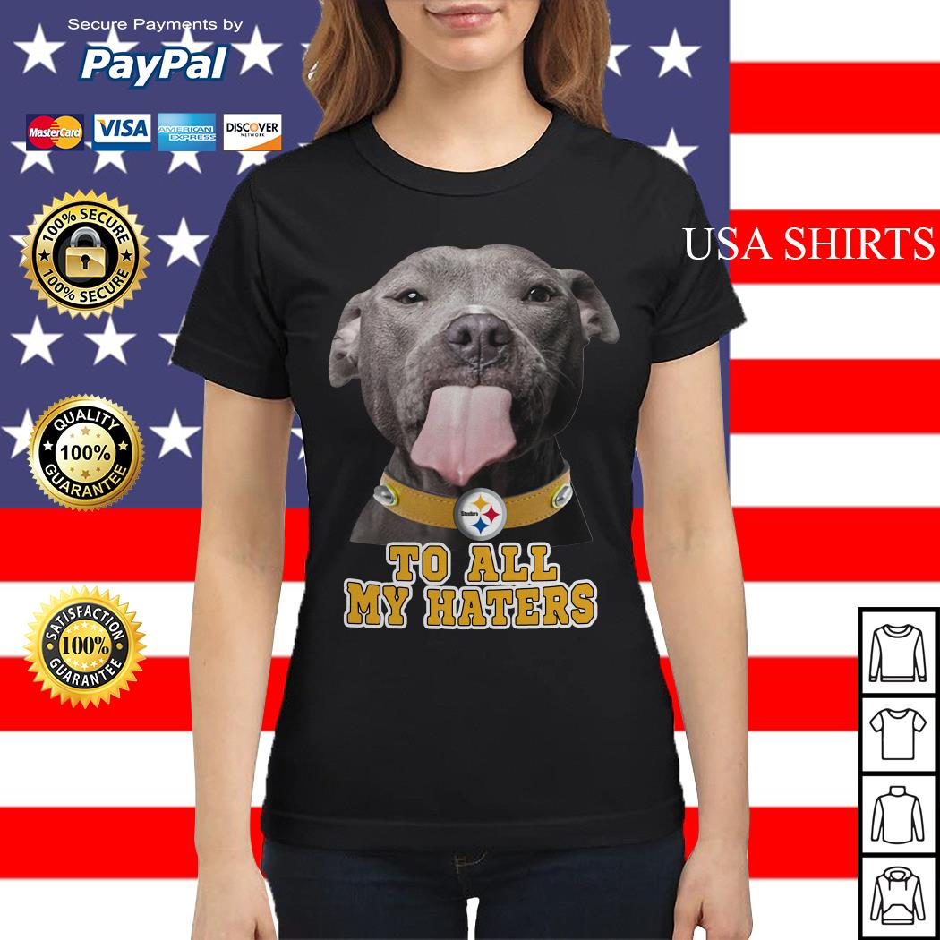 Pitbull to all my haters Pittsburgh Steelers Ladies tee