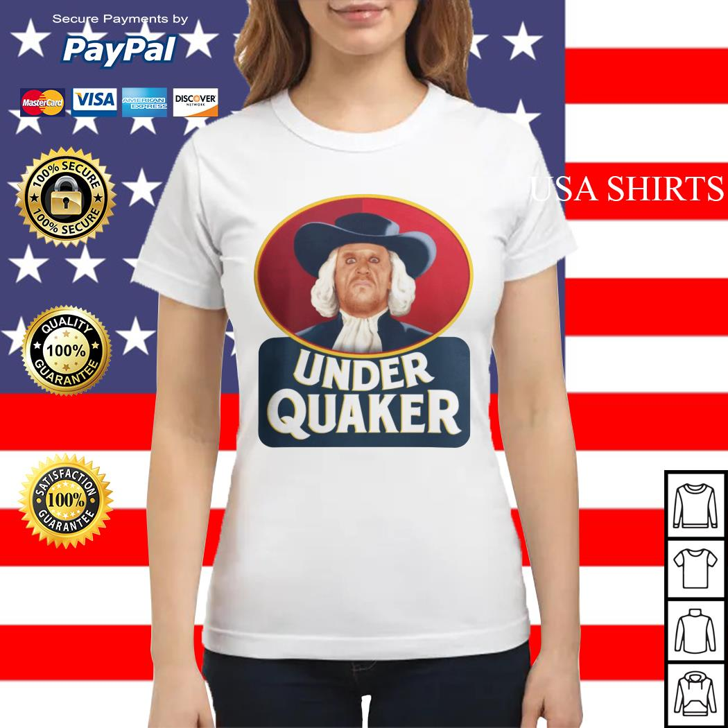 Quaker Oats Under Quaker Ladies tee