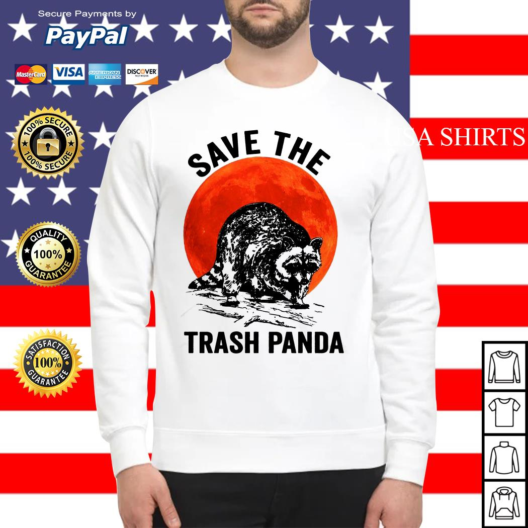 Racoon Save The Trash Pandas sunset Sweater