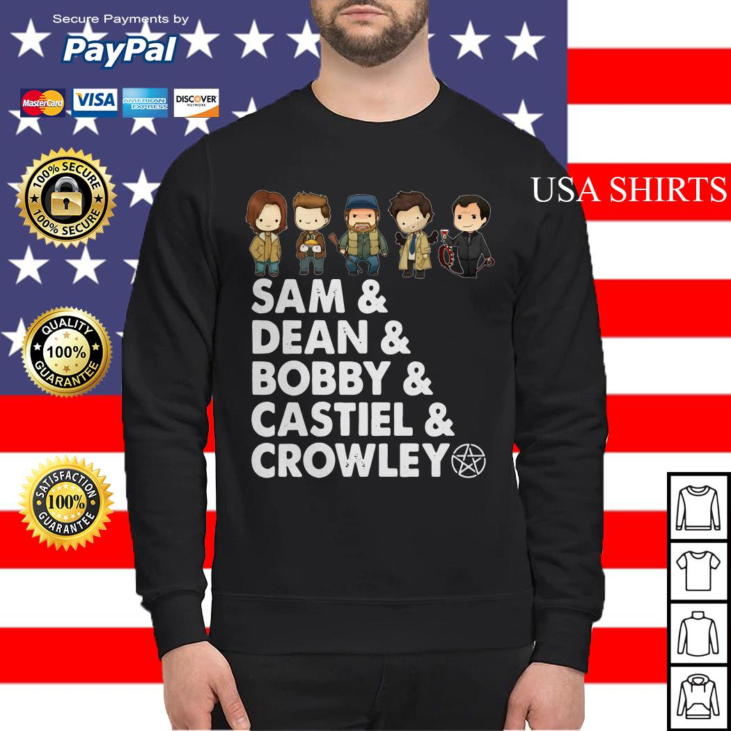 Sam Dean Bobby Castiel and Crowley Sweater
