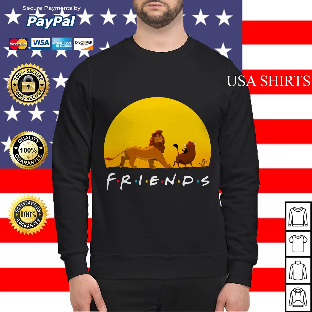 Simba Pumbaa and Timon The Lion King Friends Sweater