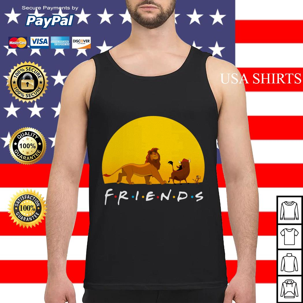 Simba Pumbaa and Timon The Lion King Friends Tank top