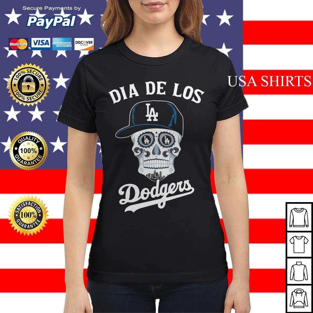 Skull dia de Los Angeles Dodgers Ladies tee