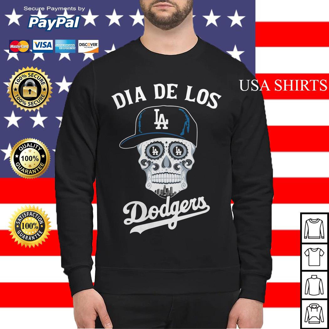 Skull dia de Los Angeles Dodgers Sweater