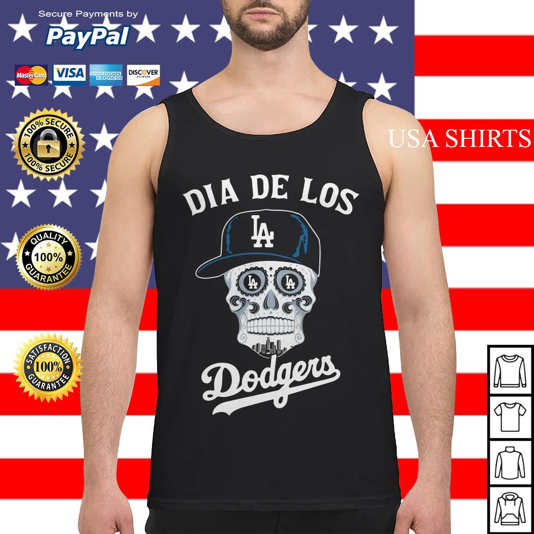 Skull dia de Los Angeles Dodgers Tank top
