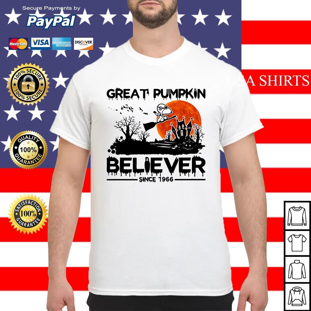 Snoopy Great pumpkin believer since 1966 Halloween shirt