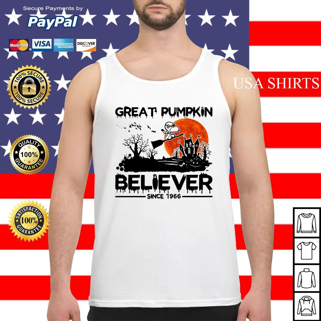 Snoopy Great pumpkin believer since 1966 Halloween Tank top