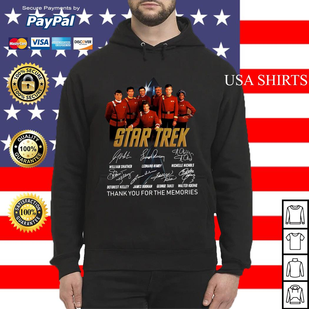 Star Trek signature thank you for the memories Hoodie