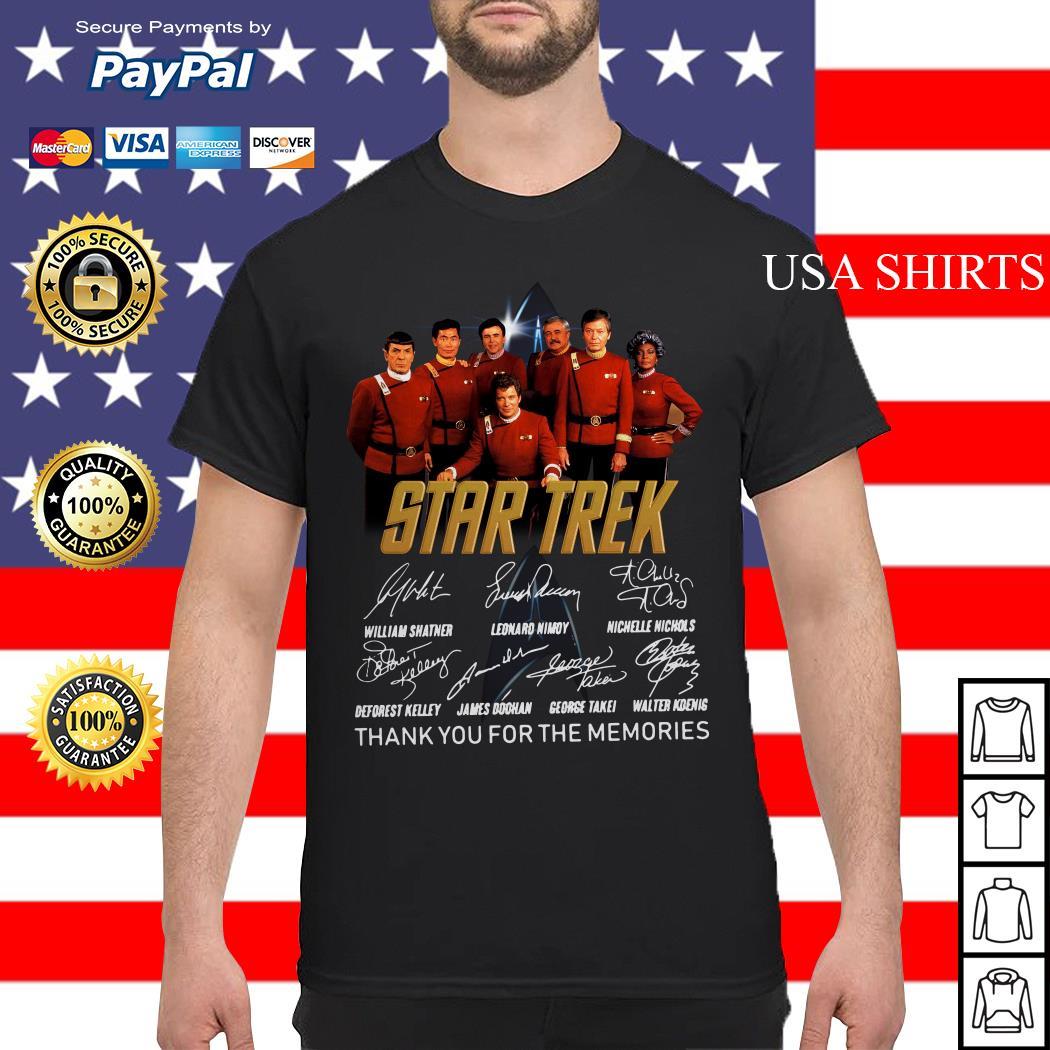 Star Trek signature thank you for the memories shirt