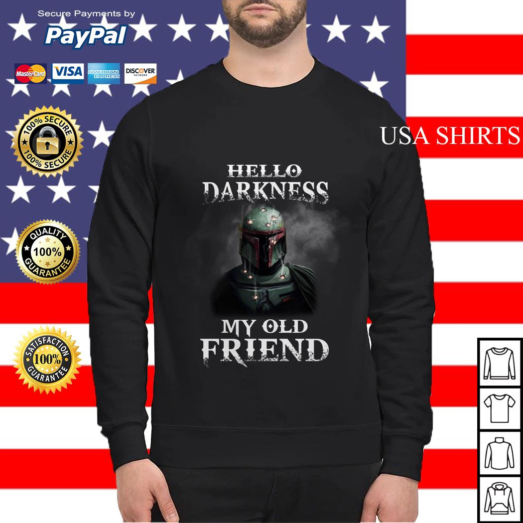 Star Wars Boba Fett Hello Darkness My Old Friend Sweater