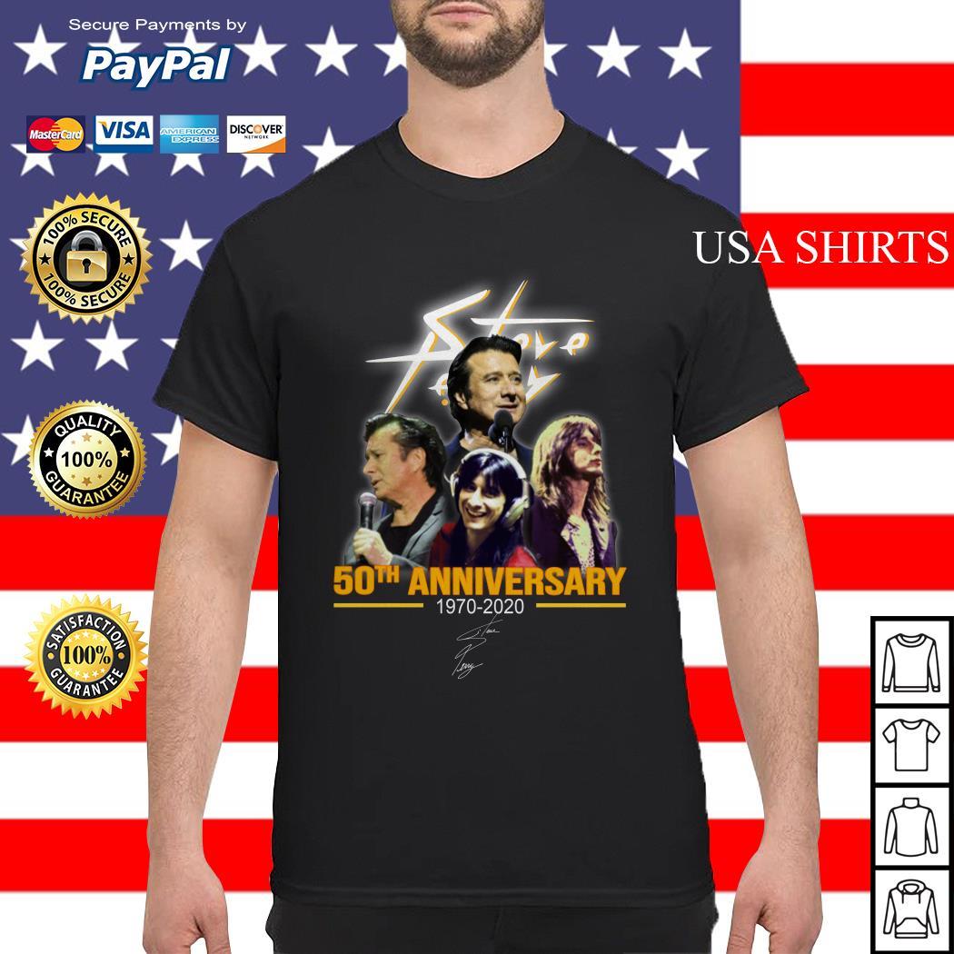 Steve Perry 50th anniversary 1970-2020 signature shirt