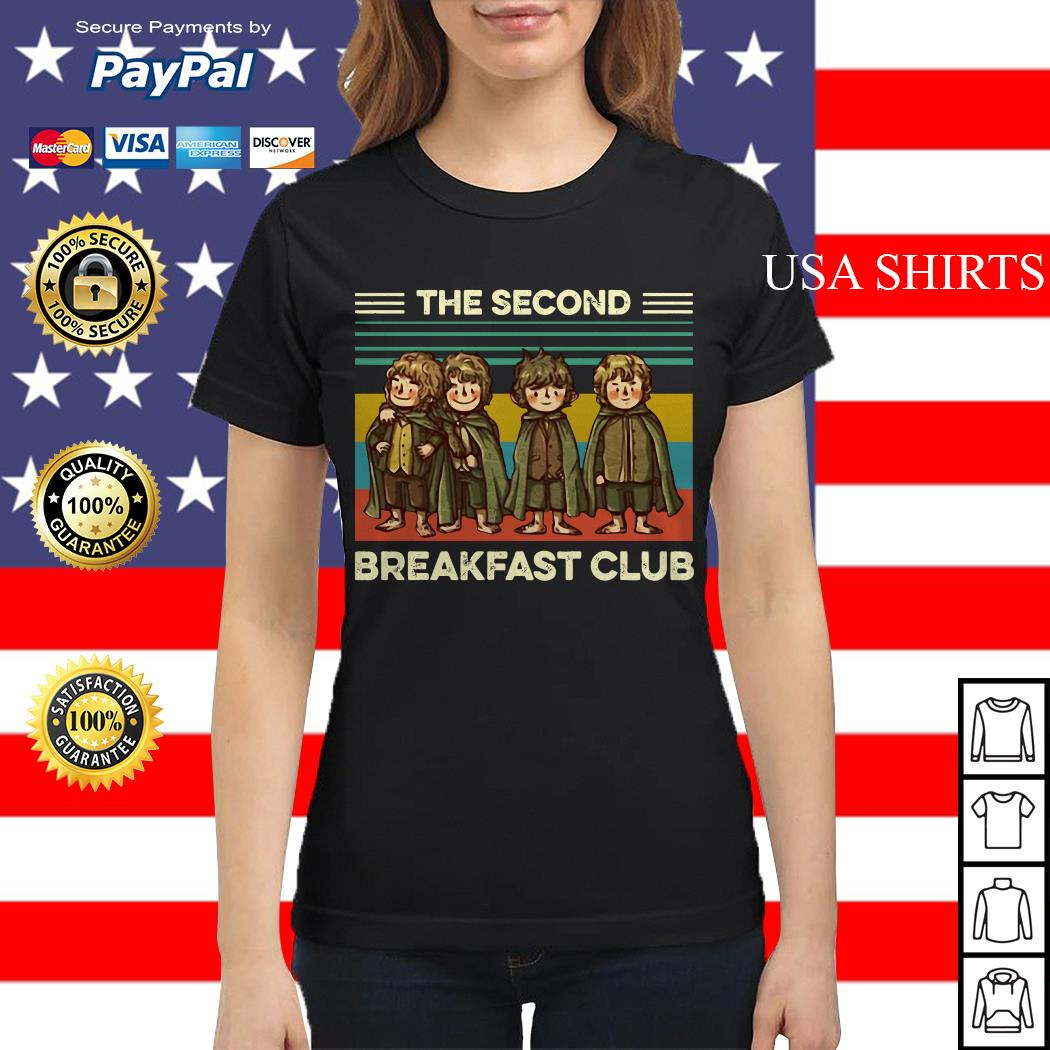 The Fellowship The Second Breakfast Club vintage Ladies tee
