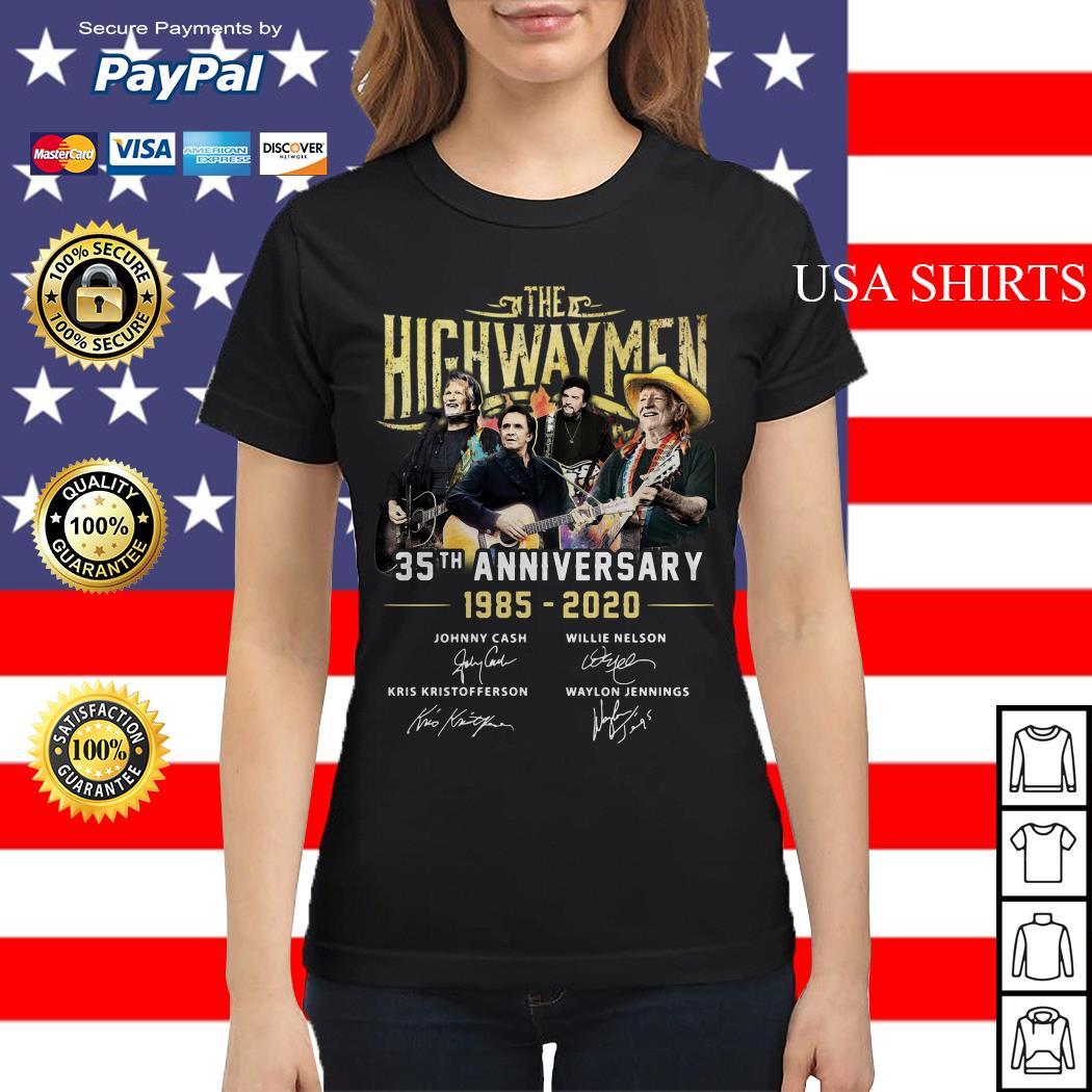 The Highwaymen 35th anniversary 1985 2020 signature Ladies tee