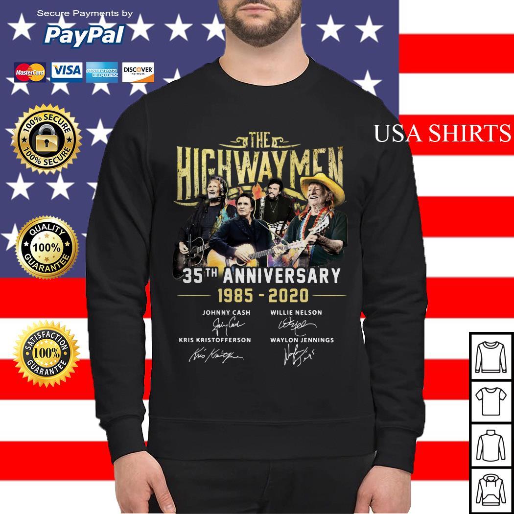 The Highwaymen 35th anniversary 1985 2020 signature Sweater