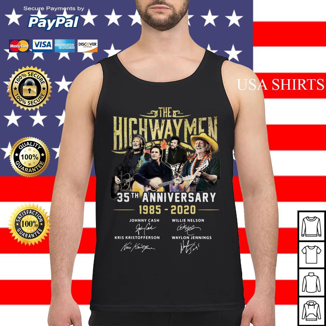 The Highwaymen 35th anniversary 1985 2020 signature Tank top