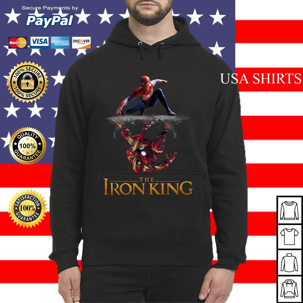 The Iron King Spider man reflection Iron man Hoodie