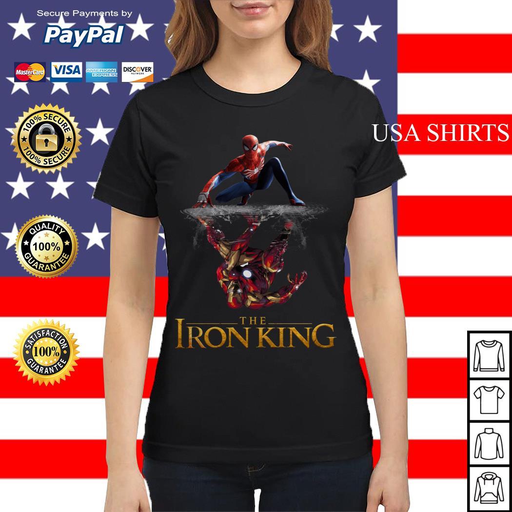 The Iron King Spider man reflection Iron man Ladies tee