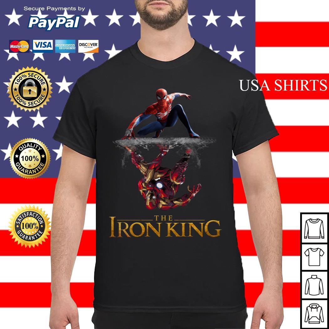 The Iron King Spider man reflection Iron man shirt