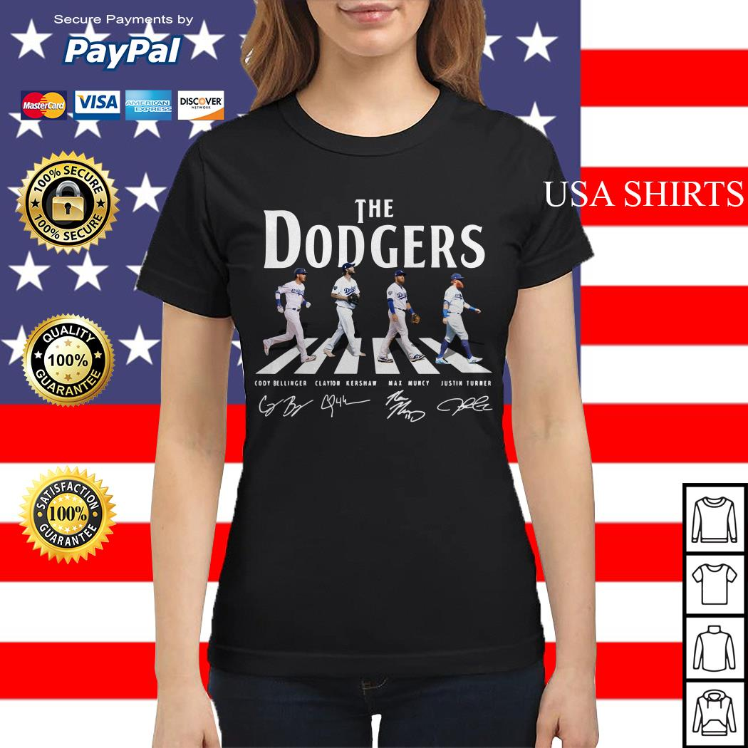 The Los Angeles Dodgers road signature Ladies tee