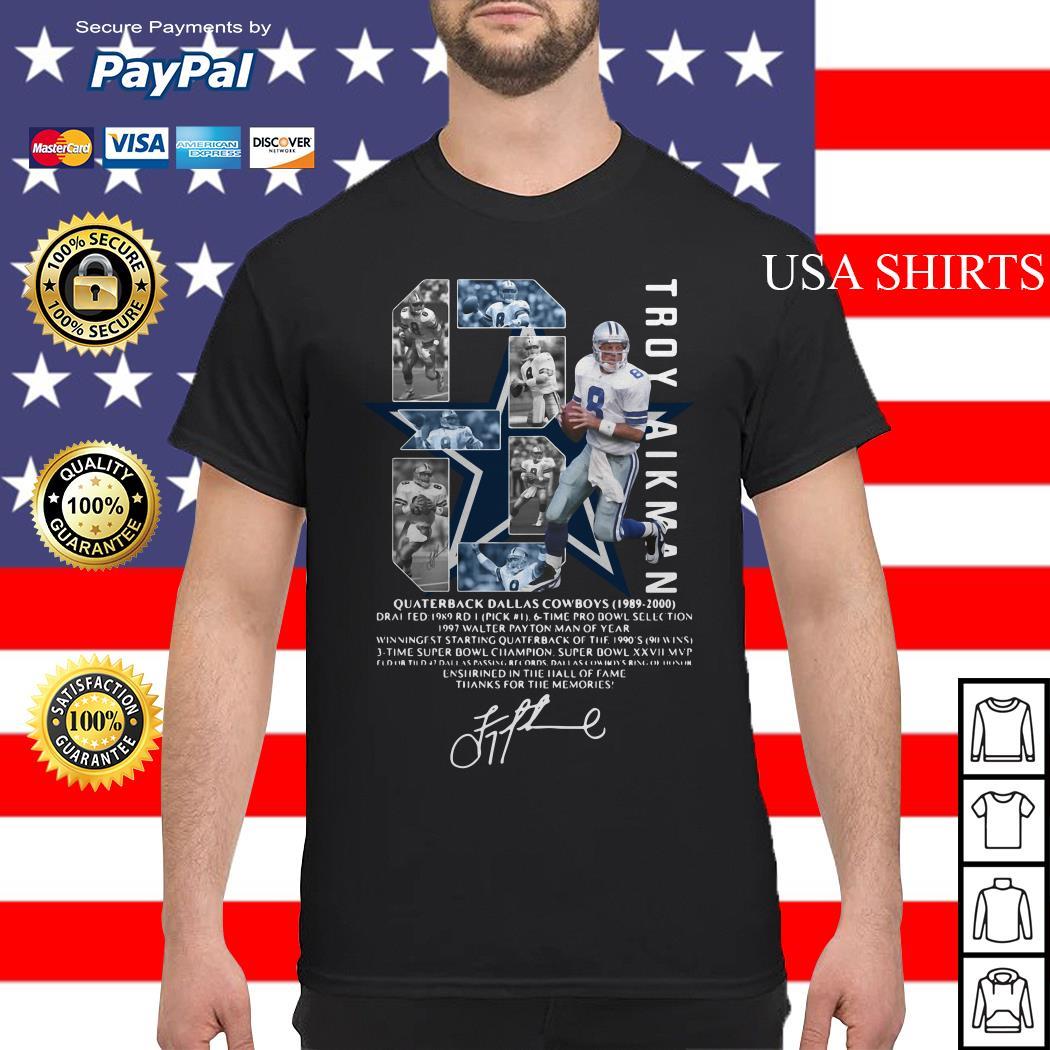 Troy Aikman 8 Quarterback Dallas Cowboys signature shirt