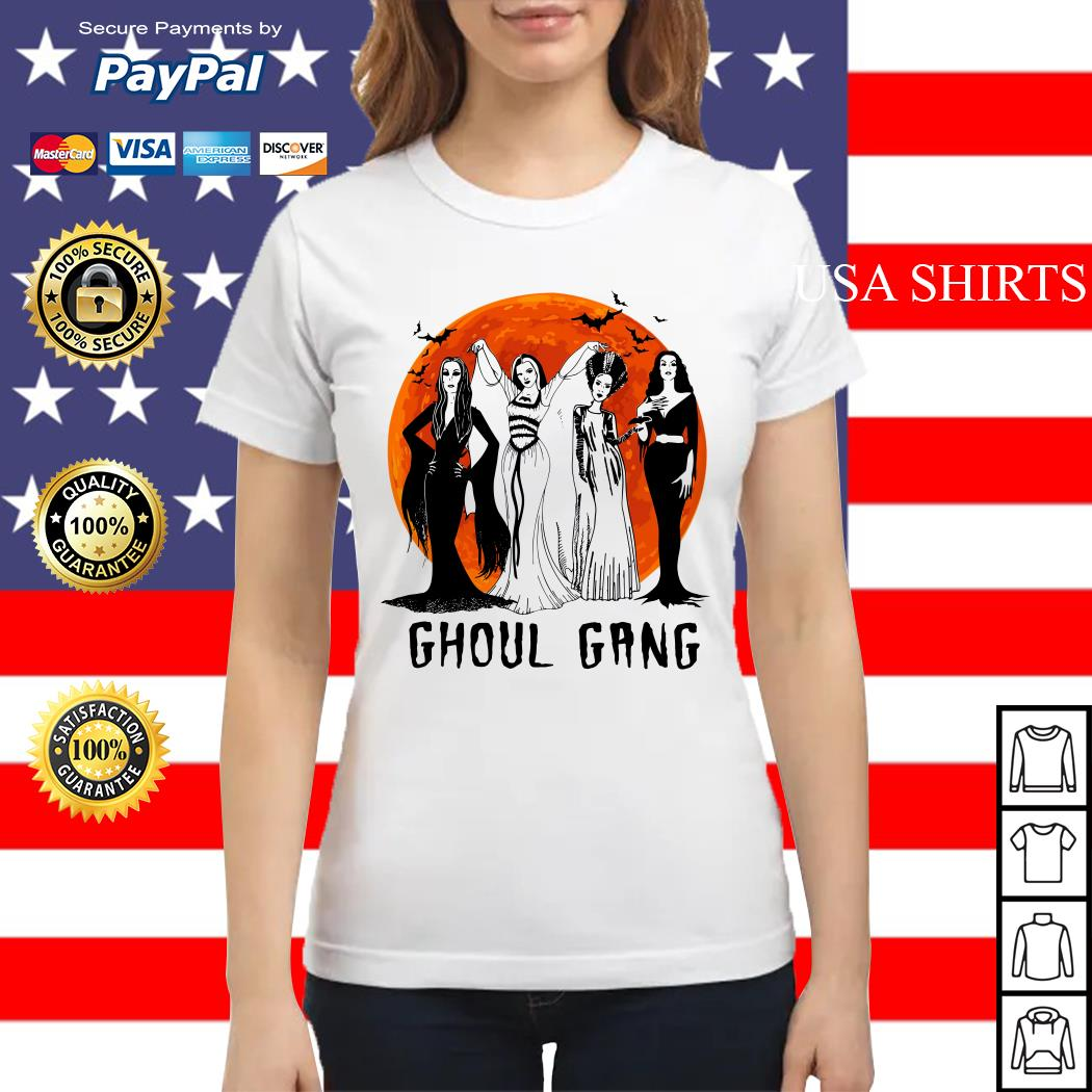Vogue Ghoul Gang Halloween moon Ladies tee