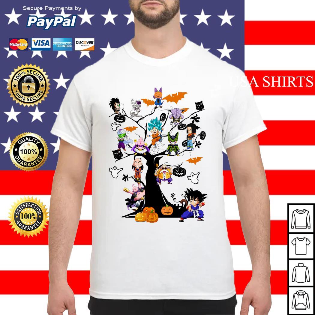 Dragon Ball Character on the tree Halloween shirt