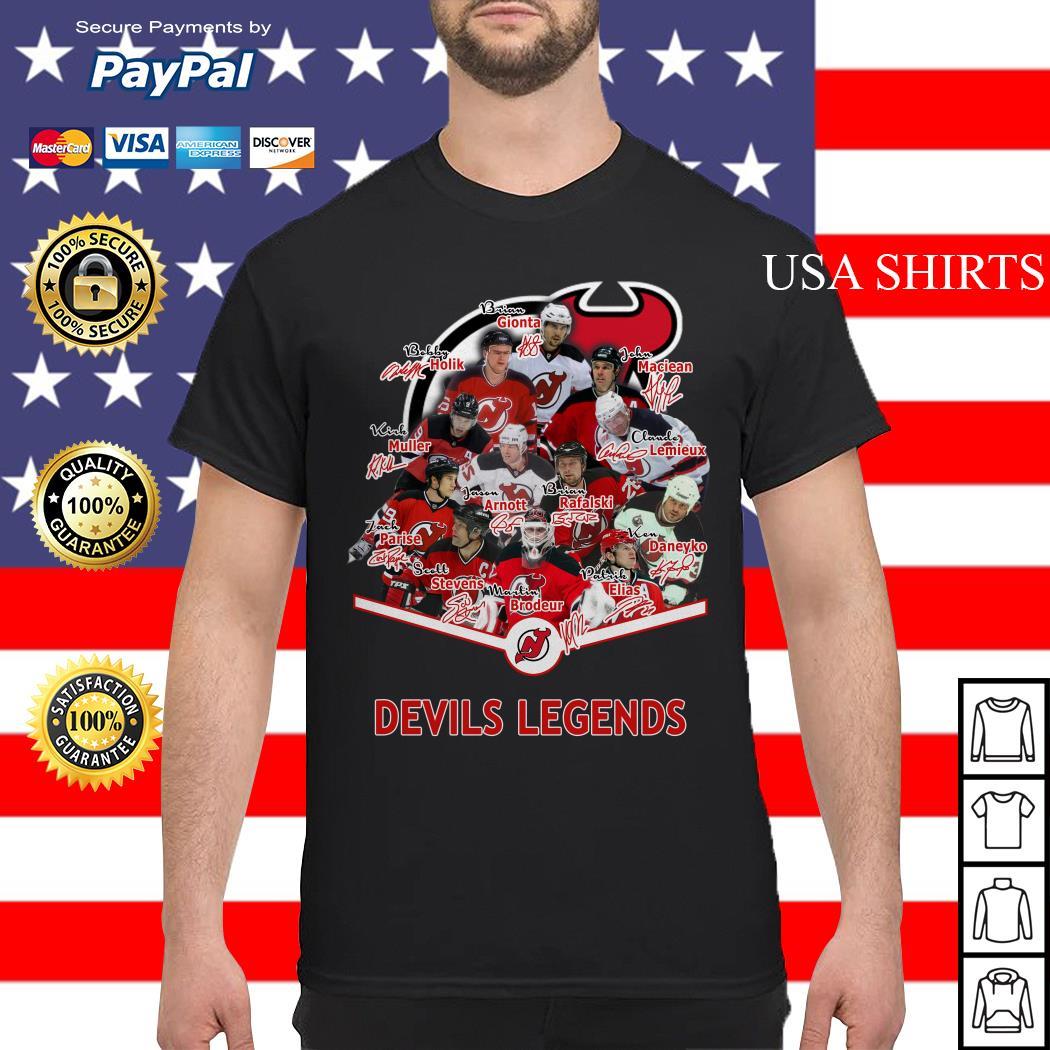 New Jersey Devils Legends signature shirt